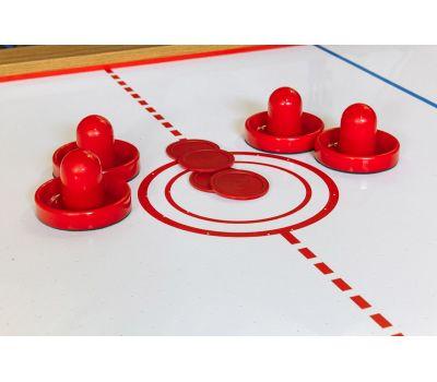 Cтол-трансформер «Twister» 3 в 1 (бильярд, аэрохоккей, настольный теннис, 217 х 107,5 х 81 см, дуб), фото 10