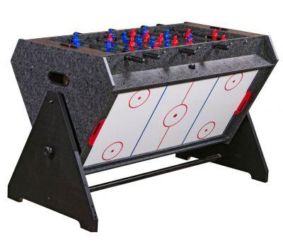 Стол-трансформер Vortex 3-in-1 (3 игры: аэрохоккей, футбол, бильярд, 127 х 78.7 х 86.4 см, серый)