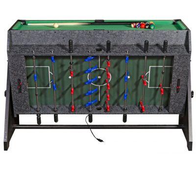 Стол-трансформер Vortex 3-in-1 (3 игры: аэрохоккей, футбол, бильярд, 127 х 78.7 х 86.4 см, серый), фото 4