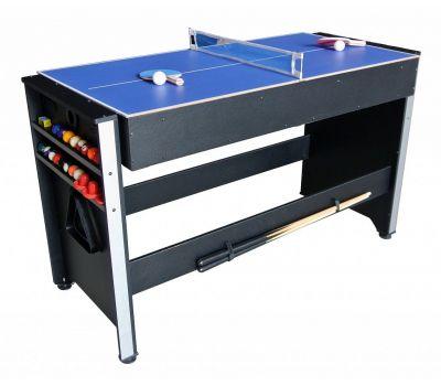 Многофункциональный игровой стол 3 в 1 Global (120 х 61 х 78 см; 3 игры: бильярд, аэрохоккей, настольный теннис), фото 2