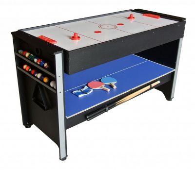 Многофункциональный игровой стол 3 в 1 «Global» (120 х 61 х 78 см; 3 игры: бильярд, аэрохоккей, настольный теннис)