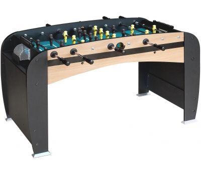 Настольный футбол (кикер) «Rialto» (141x73x82 см, светло-черный), фото 1