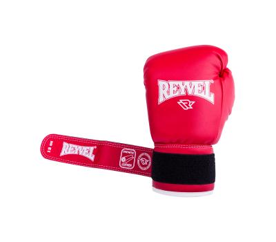 Перчатки боксерские RV-101, 6oz, к/з, красные, фото 5