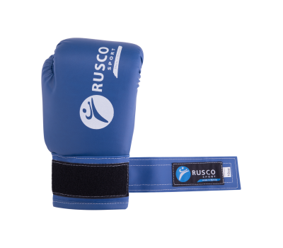 Перчатки боксерские, 10oz, к/з, синие, фото 5