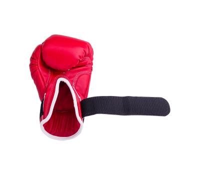 Перчатки боксерские RV-101, 6oz, к/з, красные, фото 4