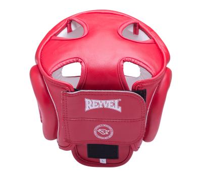 Шлем закрытый RV-301, кожзам, красный, XL, фото 2
