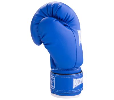Перчатки боксерские RV-101, 8oz, к/з, синие, фото 3