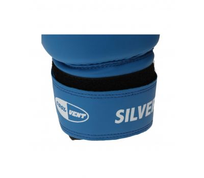 Перчатки боксерские Silver BGS-2039, 14oz, к/з, синий, фото 4