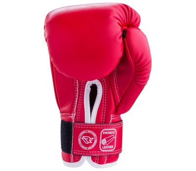 Перчатки боксерские RV-101, 6oz, к/з, красные, фото 2