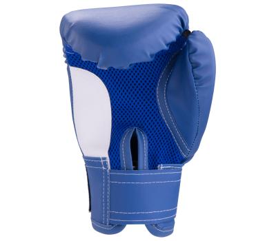 Перчатки боксерские, 10oz, к/з, синие, фото 2