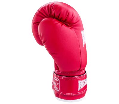Перчатки боксерские RV-101, 6oz, к/з, красные, фото 3
