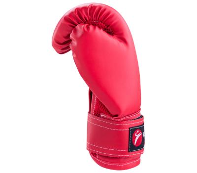 Перчатки боксерские детские, 4oz, к/з, красный, фото 3