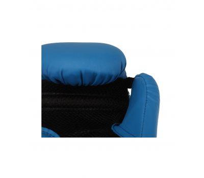 Перчатки боксерские Silver BGS-2039, 14oz, к/з, синий, фото 3