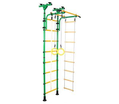 Детский спортивный комплекс ЮНЫЙ АТЛЕТ модель Пол-потолок зелёно/жёлтый