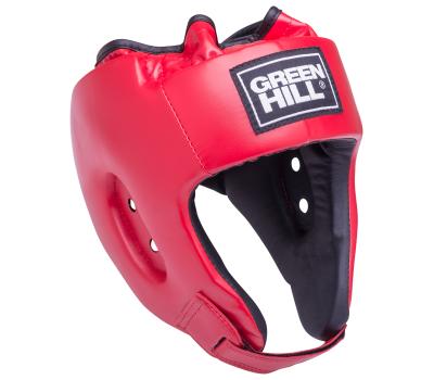 Шлем открытый Alfa HGA-4014, кожзам, красный, S, фото 1