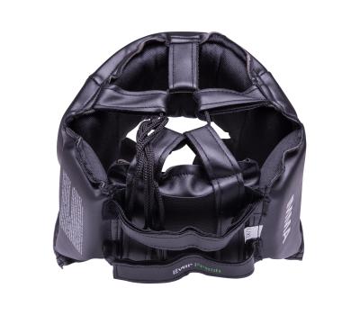 Шлем закрытый Martial Arts full face 7420LXLU, L/XL, кожзам, черный, фото 2