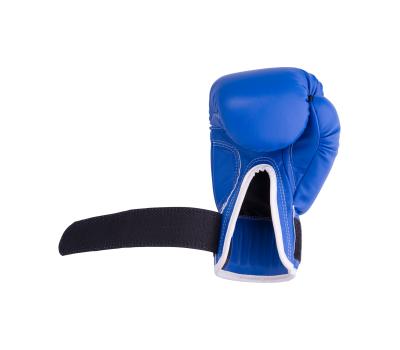 Перчатки боксерские RV-101, 8oz, к/з, синие, фото 4
