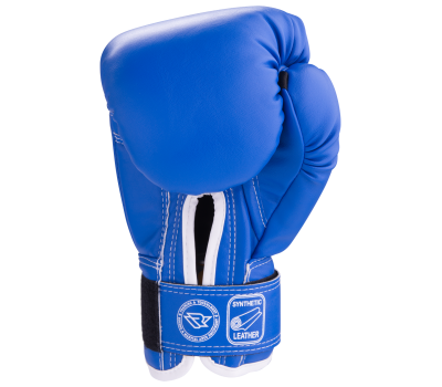 Перчатки боксерские RV-101, 8oz, к/з, синие, фото 2