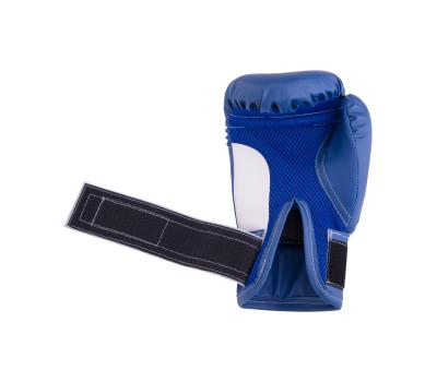 Перчатки боксерские детские, 6oz, к/з, синий, фото 4