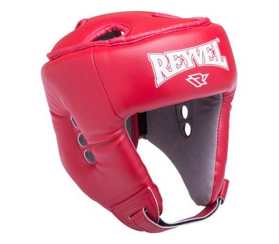 Шлем открытый RV-302, кожзам, красный, M, фото 1