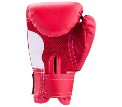 Перчатки боксерские детские, 4oz, к/з, красный, фото 2