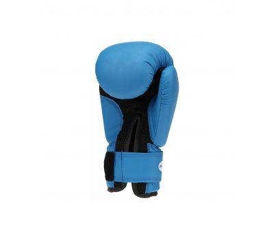 Перчатки боксерские Silver BGS-2039, 14oz, к/з, синий, фото 2