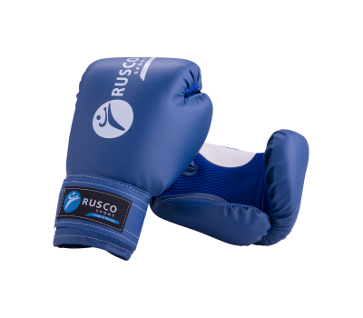 Перчатки боксерские детские, 6oz, к/з, синий, фото 1