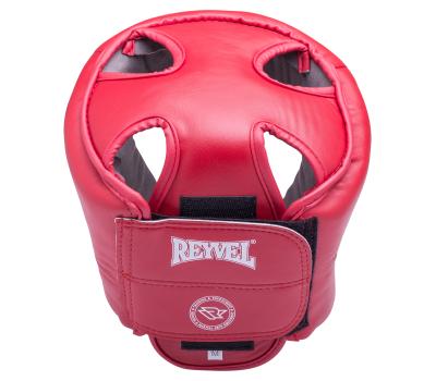 Шлем открытый RV-302, кожзам, красный, M, фото 2