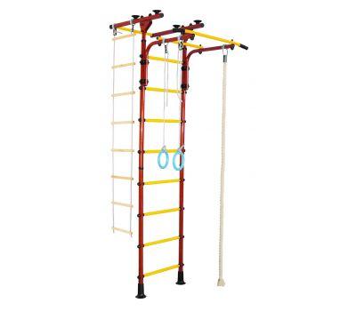 Детский спортивный комплекс ЮНЫЙ АТЛЕТ модель Пол-потолок-Т красно/жёлтый