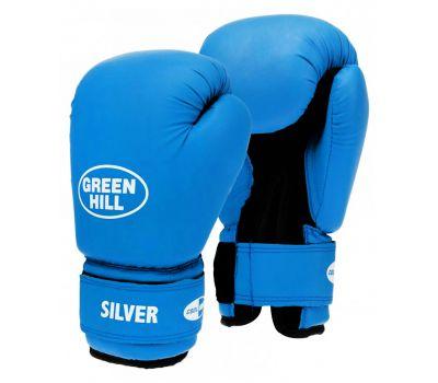 Перчатки боксерские Silver BGS-2039, 12oz, к/з, синий, фото 1