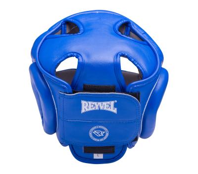 Шлем закрытый RV-301, кожзам, синий, XL, фото 2