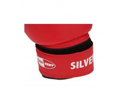 Перчатки боксерские SILVER BGS-2039, 12oz, к/з, красный, фото 4