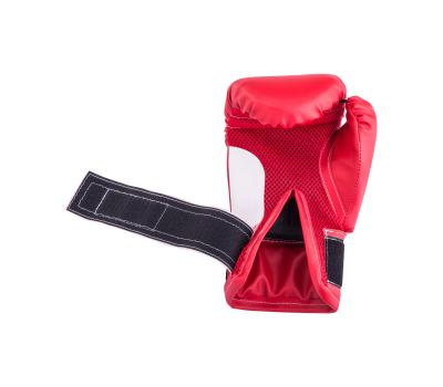 Перчатки боксерские детские, 4oz, к/з, красный, фото 4