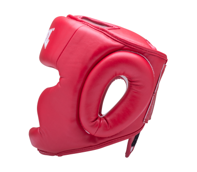 Шлем закрытый RV-301, кожзам, красный, XL, фото 3