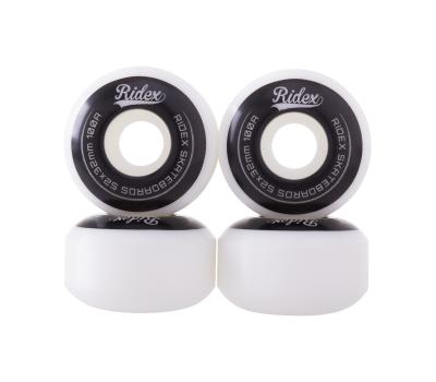 Комплект колес для скейтборда SB, 52*32, белый/черный, 4 шт., фото 2