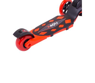 Самокат 3-колесный Robin 3D 120/90 мм, красный, фото 6