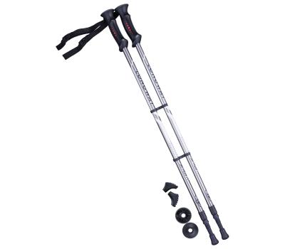 Палки для скандинавской ходьбы Longway, 77-135 см, 2-секционные, серый/чёрный, фото 1