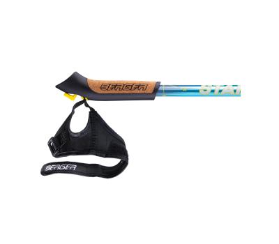 Палки для скандинавской ходьбы Starfall, 77-135 см, 2-секционные, синий/серый/жёлтый, фото 4