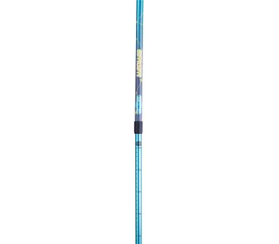 Палки для скандинавской ходьбы Starfall, 77-135 см, 2-секционные, синий/серый/жёлтый, фото 2