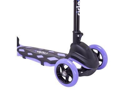 Самокат 3-колесный Robin 3D 120/90 мм, фиолетовый, фото 4
