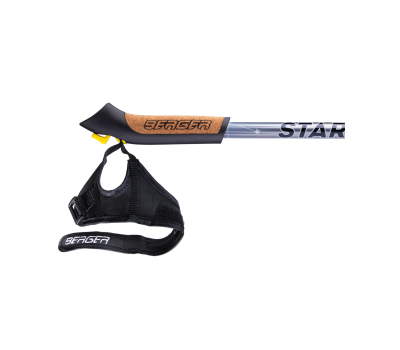 Палки для скандинавской ходьбы Starfall, 77-135 см, 2-секционные, серый/чёрный/белый, фото 4