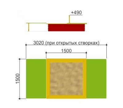 Песочница с крышкой «Romana 109.22.00», фото 2