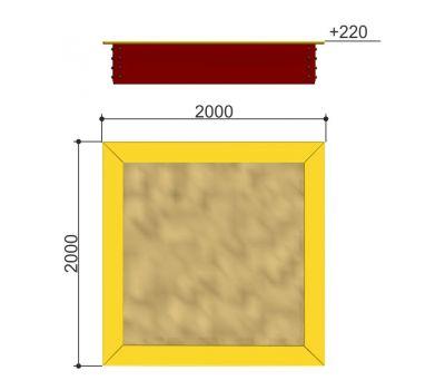 Песочница 2000 х 2000 «Romana 109.01.03», фото 2