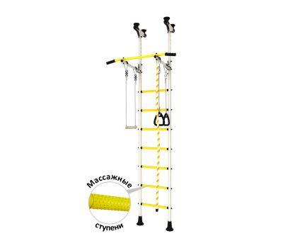 DSK Распорный с регулировкой (с массажными ступенями) Белый/Желтый ДСКМ-2-7.06.Г6.410.14-24, фото 1