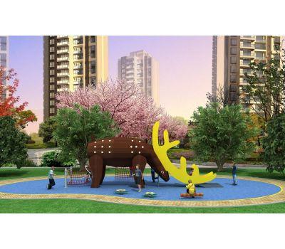 Детская игровая площадка Air-Gym Play Лось WD-DZ034, серия Животный мир, фото 1