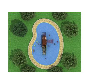 Детская игровая площадка Air-Gym Play Лось WD-DZ034, серия Животный мир, фото 2