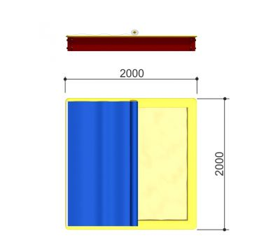 Тент «Romana 109.29.00» (для песочницы 109.01.03 2 x 2 м), фото 2