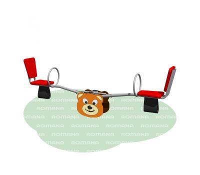 Качалка «Мишка» Romana 108.01.02 красная, фото 1