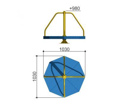 Карусель с вращающейся платформой Romana 108.27.00 сине/желтая, фото 2