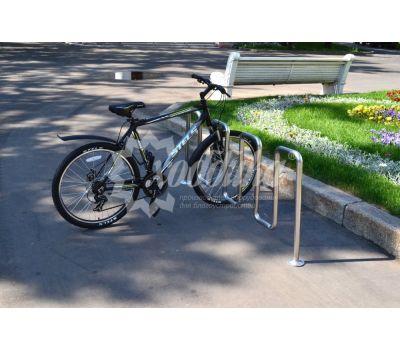 Велопарковка «Квадро» из нержавеющей стали, фото 4